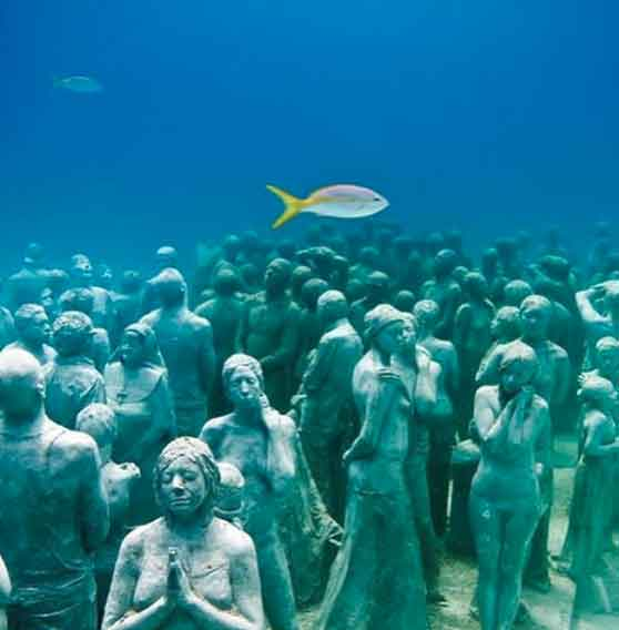 Cancun Underwater Museum 32 weirdest museums in the world that are actually disturbing vdiscovery arvinovoyage