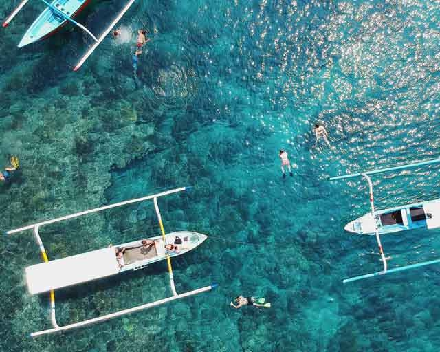 Jukung or Kano Snorkeling trip tour mengiat beach nusa dua cleanest beaches in bali vdiscovery arvonovoyage