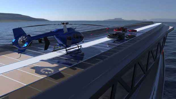 helicopter hangars amazing mega yacht concept that looks like a giant shark