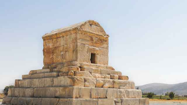 Tomb of Cyrus this great magnificent building turns out to be an ancient tomb vdiscovery arvinovoyage