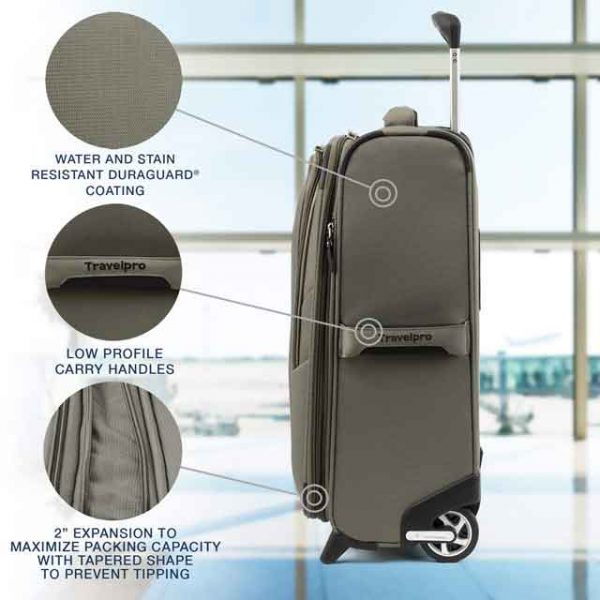 carry on luggage slate green 20 inch travelpro vdiscovery arvinovoyage